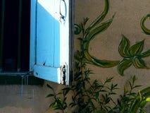 Thai street art. Window Stock Image