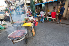 Thai street food, bbq cart Stock Image