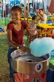 Thai street food, cotton candy Stock Image