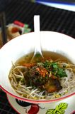 Thai street food fish noodle Royalty Free Stock Images
