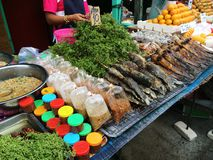 Thai street food. At fresh market Royalty Free Stock Images