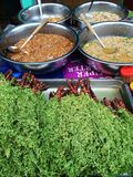 Thai street food. At fresh market Stock Photos