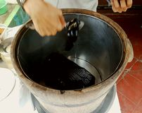 Thai street food grass jelly. In songkhla thailand Royalty Free Stock Photos