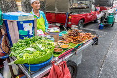Thai street food, grilled chicken Stock Images