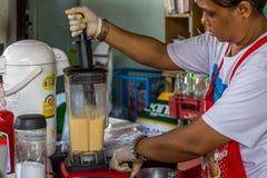 Thai street food, juice and sweet drink Stock Photo