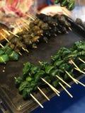Thai street food. At Chiangmai walking street Royalty Free Stock Photos