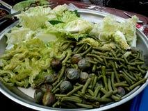 Thai Street Food. Veggies from Bangkok, Thailand food street vendors Stock Photos
