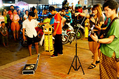 Thai street musicians Royalty Free Stock Photo