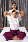 Thai stretch massage Royalty Free Stock Photo