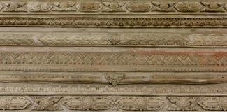 Thai stucco. Thai art stucco on the wall of church Royalty Free Stock Photo