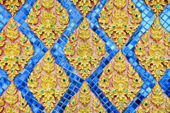 Thai stucco pattern style on wall Royalty Free Stock Photo