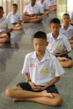 Thai student Meaning meditation Royalty Free Stock Images