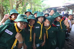 Thai student scout camp Royalty Free Stock Photography