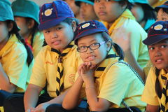 Thai student scout camp Royalty Free Stock Images