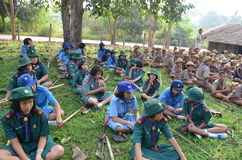 Thai student scout camp Royalty Free Stock Image