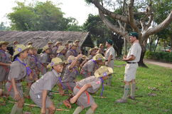 Thai student scout camp Royalty Free Stock Photo