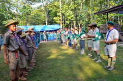 Thai student scout camp Stock Photography