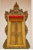 Thai stye church window Royalty Free Stock Photo