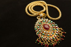 Thai stye golden necklace Royalty Free Stock Photos