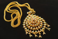 Thai stye golden necklace Stock Images