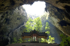 Free Thai Stye Pavilion In A Cave. Royalty Free Stock Photography - 6159917