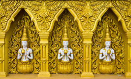Thai style achitecture god Stock Photography