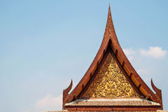 Thai style architecture roof and sky Stock Images