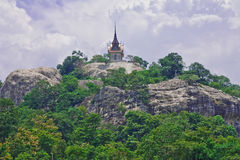 Thai style architecture on top of mountain Royalty Free Stock Photography