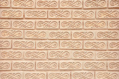 Thai style art brick wall texture Royalty Free Stock Image