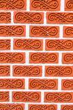 Thai style art brick wall texture pattern background picture Stock Photo