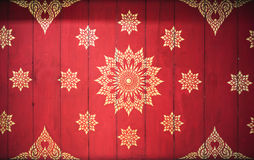 Thai style art of pattern on the a wall in temple, Thailand. Tex. Ture Background Royalty Free Stock Images
