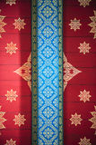 Thai style art of pattern on the a wall in temple, Thailand. Tex. Ture Background Stock Image
