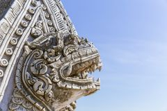 Thai Style Art Stone handcraft sculpture Royalty Free Stock Images