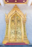 Thai style art temple gate Royalty Free Stock Images