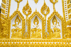 Thai style art temple, Wat Phrathat Nong Bua Stock Images
