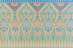 Thai style art wallpaper in temple Royalty Free Stock Photo