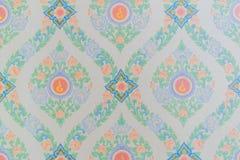 Thai style art wallpaper in temple Stock Photo