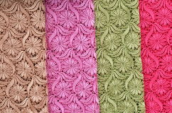 Thai style background. Patterns of fabric patterns, beautiful colors Stock Image