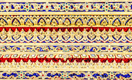 Thai style background on temple wall Royalty Free Stock Images
