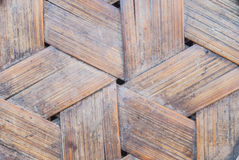 Thai-style bamboo basketry wooden texture Royalty Free Stock Photo