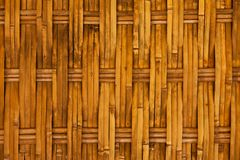 Thai style bamboo house wall Royalty Free Stock Photos