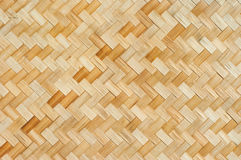 Thai style bamboo wall Stock Images