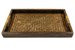 Thai style bamboo and wooden tray Stock Images