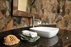 Thai style bathroom Royalty Free Stock Photo