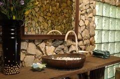 Thai style bathroom stock photo
