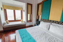 Thai Style Bed room with nature sun Stock Images