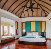 Thai Style Bed room with nature sun Stock Photography