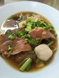 Thai style beef noodle stock photography