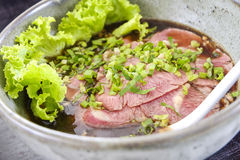 Thai style beef noodle food. Stock Images