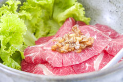 Thai style beef noodle food. Stock Image